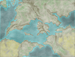Fictional Map Mediterranean style by EndriuMaster