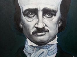 Edgar Allan Poe Portrait Step 3 - Detail by Trolllike