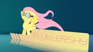 Fluttershy Wallpaper by SamXJing