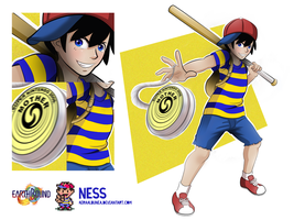 Earthbound:  Ness by AeraAlbunea