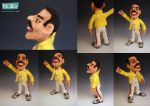 Freddie Mercury A Tribute in Needle Felted Wool by FeltAlive