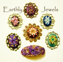 Polymer Clay Cameo Appliques by earthlyjewels