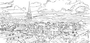 Exeter, 1hr Speedpaint - Lines Only by resresres