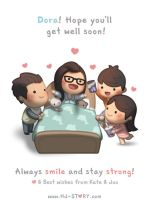 Dora! Get Well Soon! by hjstory