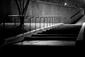 Black And White Stairs by kingkool6