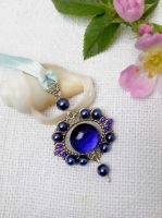 Blue silver necklace by Mirtus63