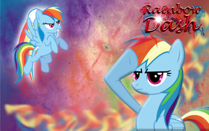 Rainbow Dash Background Final Version by Dastuke