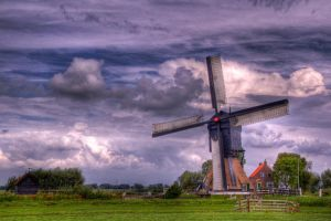 Dutch Windmill by avdstelt
