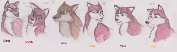 Balto's Pups by Gothic-Ruby