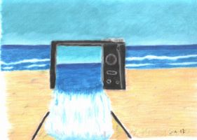 Take a photo at the beach by volker03