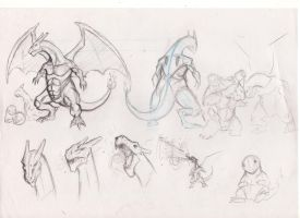 Super Charizard!! ( boceto ) by KevinTrentin
