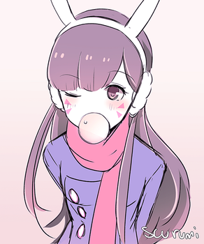 Scarf D.VA by scurumi