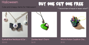 Buy One Get One Free Halloween items! by octapuu