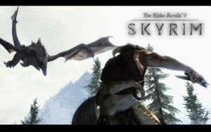 Skyrim Wallpaper - Dragon 2 by Aenek-Lycaon