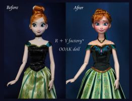 Anna Coronation OOAK doll by RYfactory