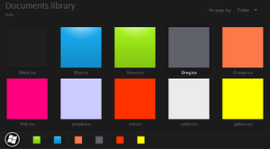 10 Color Icon Phone 7 Style by winaista