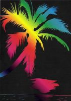Tropical Palm Tree by DarkGeminiLily