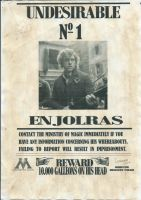 Harry Potter and Les Mis Crossover - Enjolras by TheRandomPhangirl