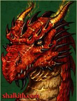 Red Dragon Six- Young Wyrm by VegasMike