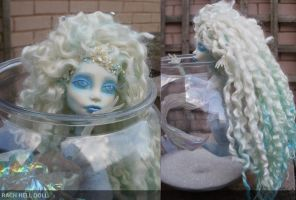 Aurora Arctic monster high custom repaint mermaid by Rach-Hells-Dollhaus