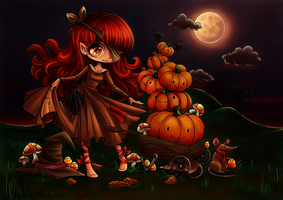 Halloween Pumpkin Princess By Yampuff Reloaded by Suiish