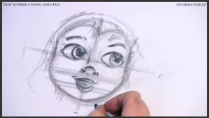 Learn How to Draw Young Girl's Face 013 by drawingcourse