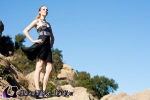 Black and Silver Party Dress by DaisyViktoria