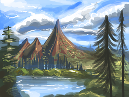 Landscape doodle by figsf