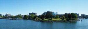 Panoramic Victoria's Harbour by raptor-rapture