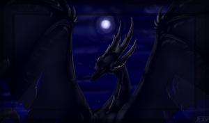 Blacker than the night sky by WingedWilly