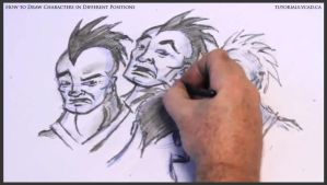 Learn to draw characters in different positions 31 by drawingcourse