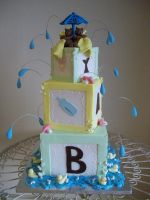 Baby blocks cake by see-through-silence
