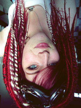 Me with my new dreads for deviant ID by mangartiste