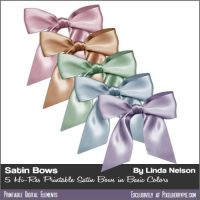 Free Satin PSD Ribbons And Bows Clipart PNG by pixelberrypie