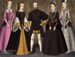Philip II and his four wives by Nurycat