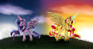 Sunset and Twilight: Heiresses by GaelleDragons