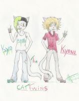:New Ocs: Kyo and Kyonu the cat twins by Eduardathewolf