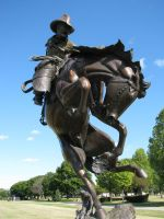 Cowboy Statue by ItsAllStock
