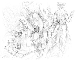 The evenings of the Baroness (sketch) by Agalanthe