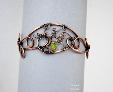 Copper wire Tree of Life armband by IanirasArtifacts
