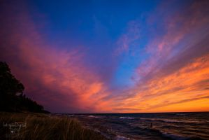 Lake Michigan Sunset by JessicaDobbs