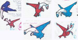 Latias and Latios by little-ampharos