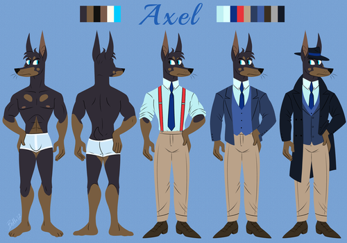 Axel Ref by DrFoxes