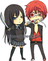 COMM: Azami and Akashi by pine-apples