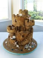 Sand Castle cake by TiffsWickedCakes