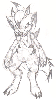 Pokemon - Lycanroc Attempt (Unfinished) by CougarLeon2