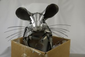 Chinchilla in a box by HubcapCreatures