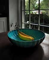 Bananas In a Blue Bowl by ZahrahLeona