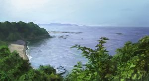 Japan Coast 2 by Lun-art