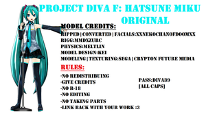 [Project DIVA F DL]#1 Hatsune Miku Original by MMDxZURC